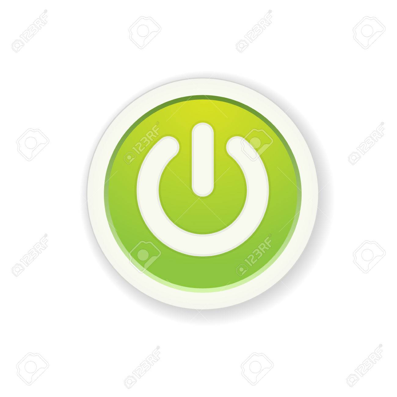 The green circle button with standby icon royalty free cliparts the green circle button with standby icon stock vector 25984047 biocorpaavc