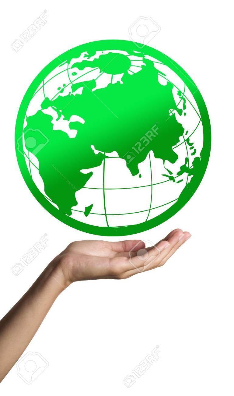 Green Earth on hand Stock Photo - 7772015