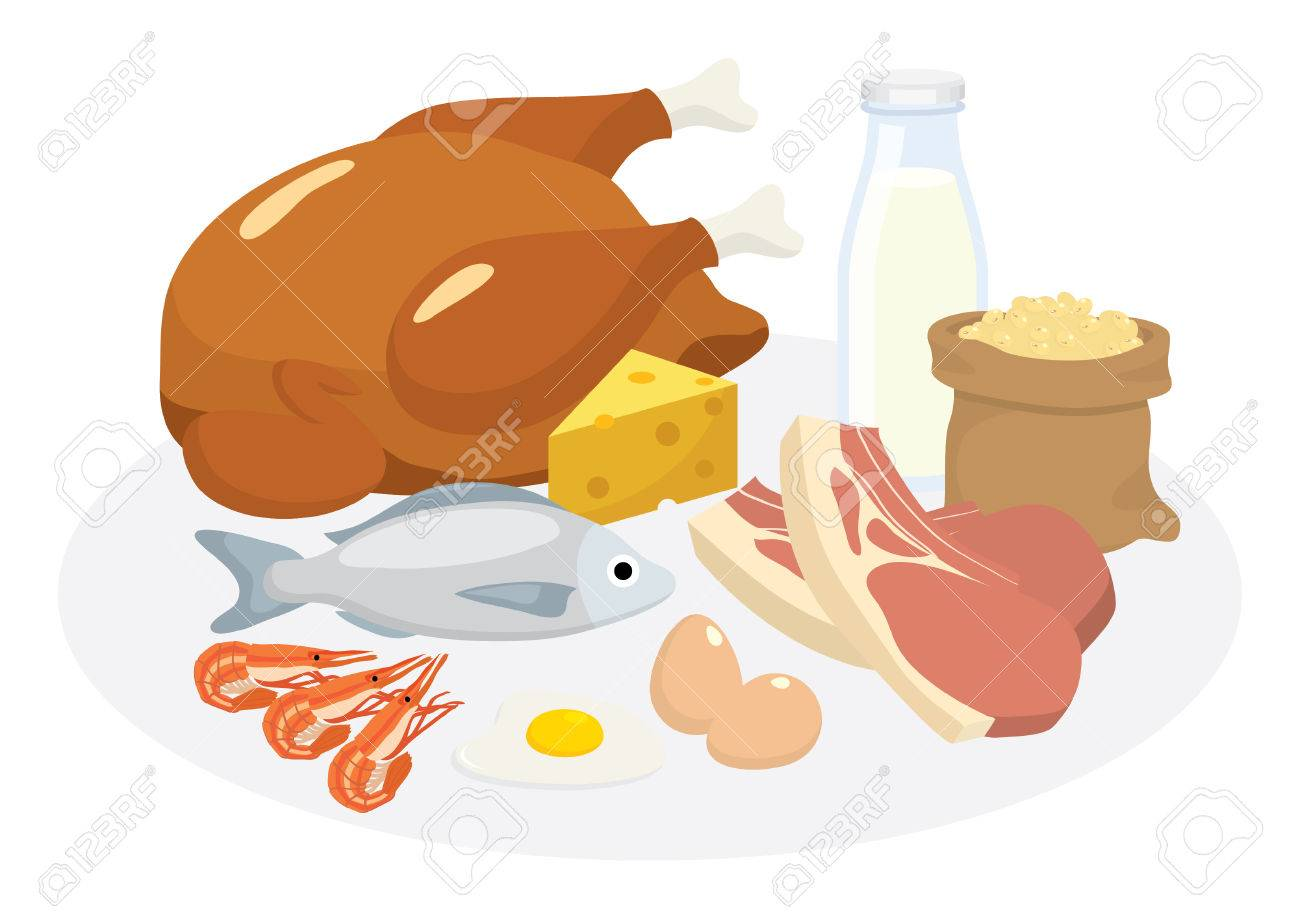 protein diet cartoon images