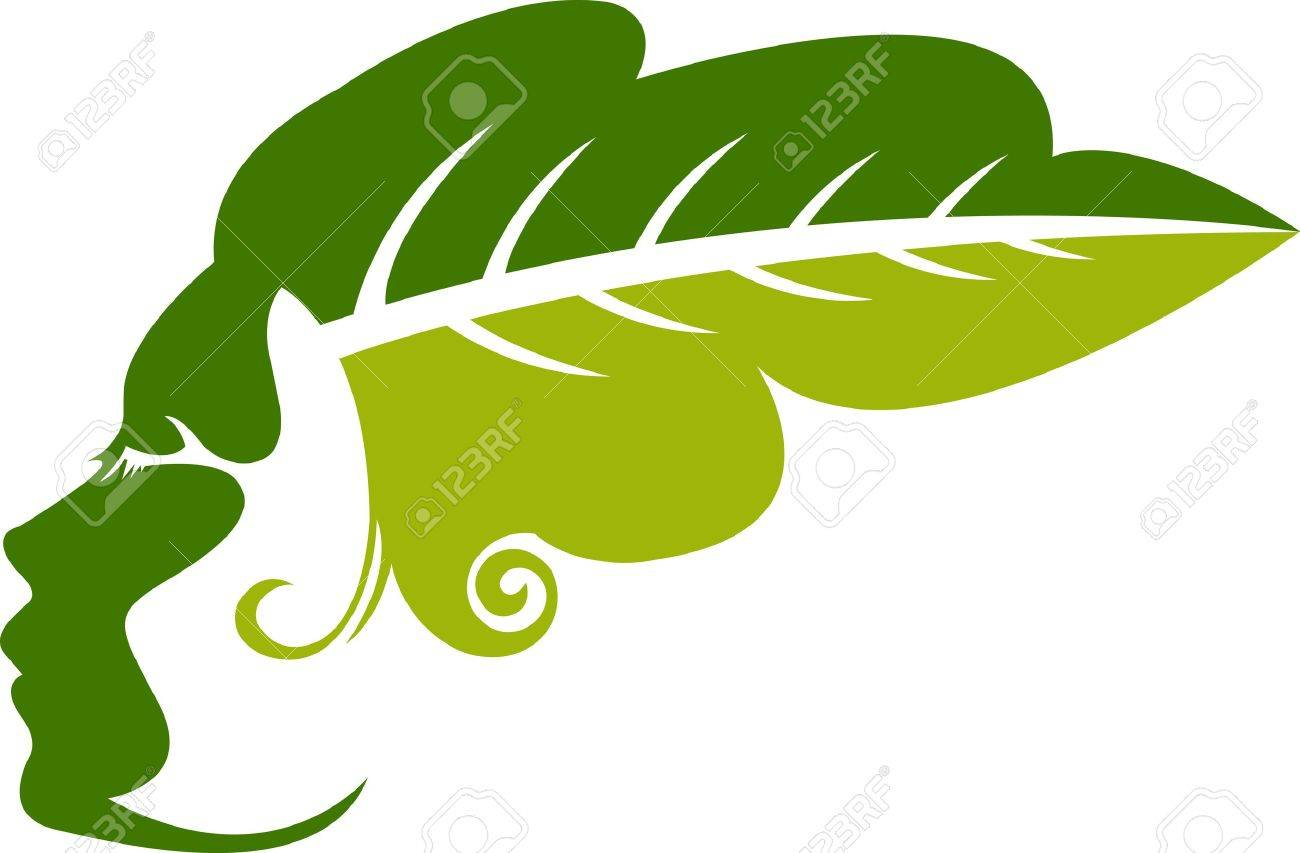 Illustration art of a leaf woman with isolated background Stock Vector - 21085116