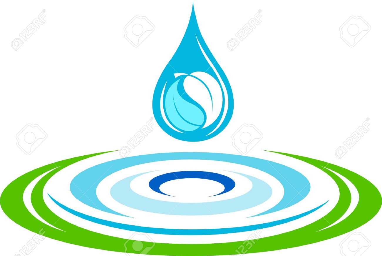 Illustration art of a water ripples logo with isolated background Stock Vector - 21085168