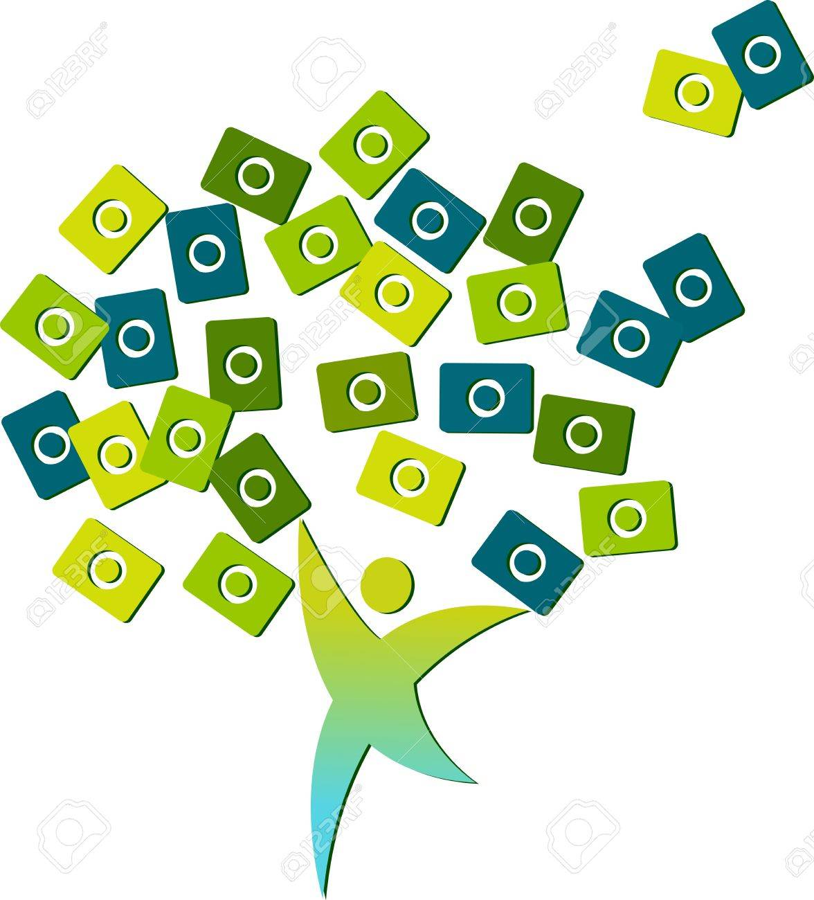 Illustration art of a human tree with isolated background Stock Vector - 21302858