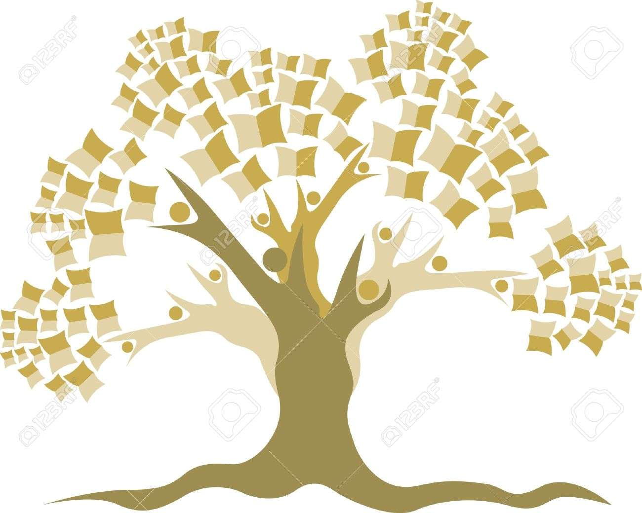 Illustration art of a Education tree logo with isolated background Stock Vector - 21302863