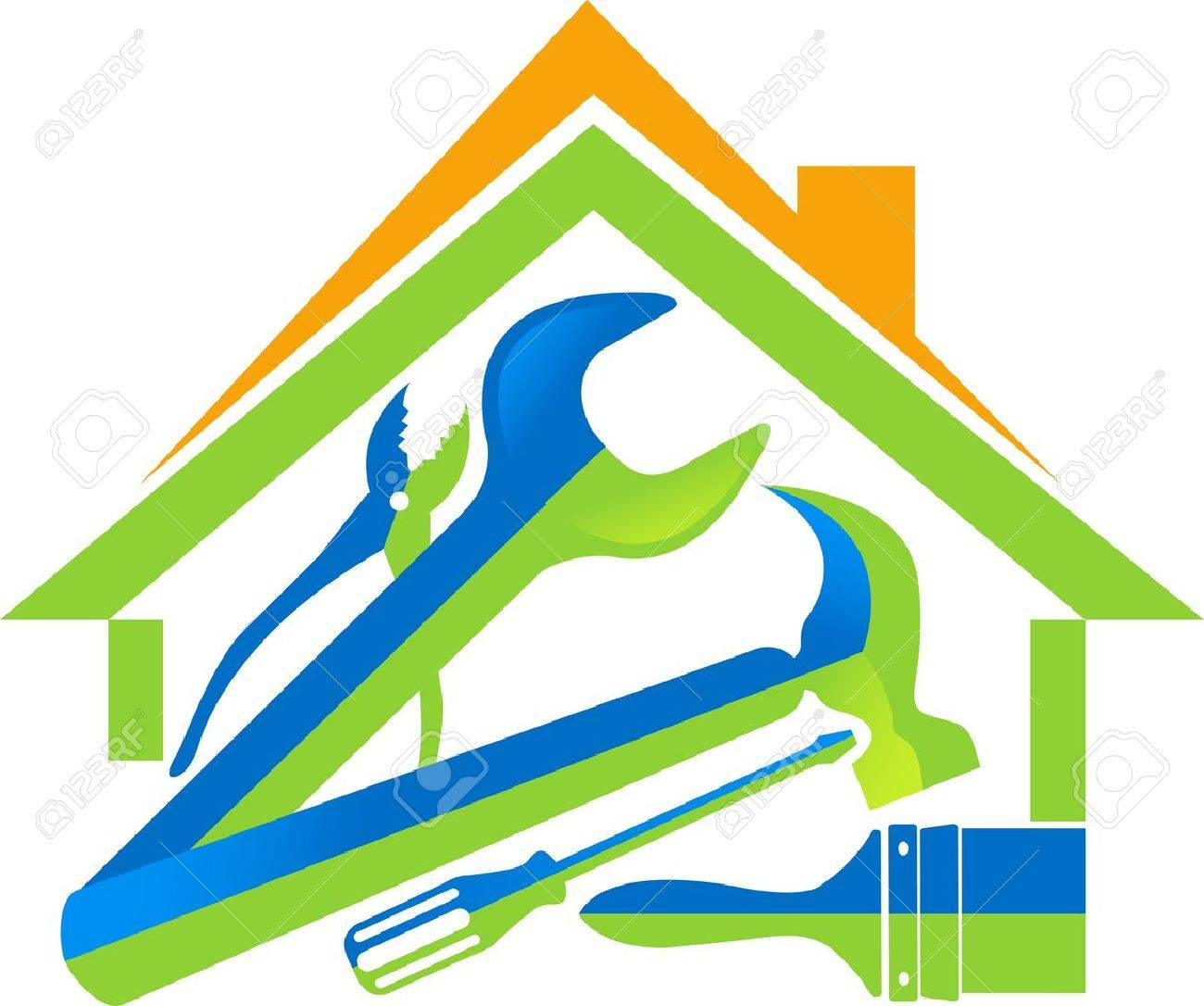 Illustration art of a home tools with isolated background Stock Vector - 21739336