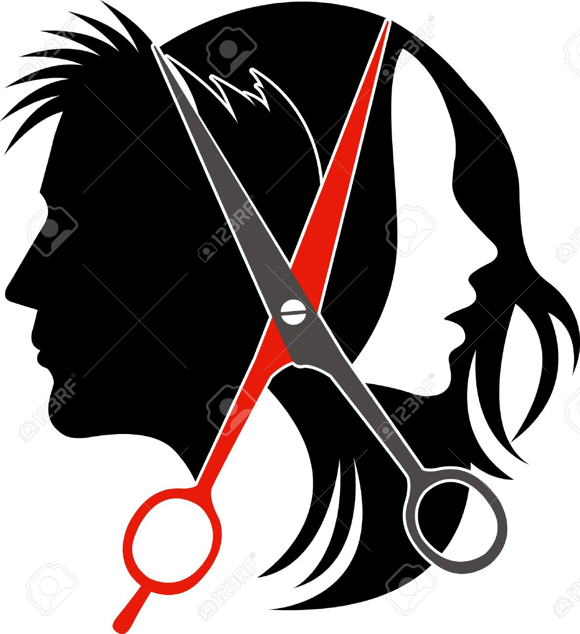 Hair salon chair isolated stock photos illustrations and vector art - Cutting Hair Illustration Art Of Salon Concept On Isolated Background Illustration