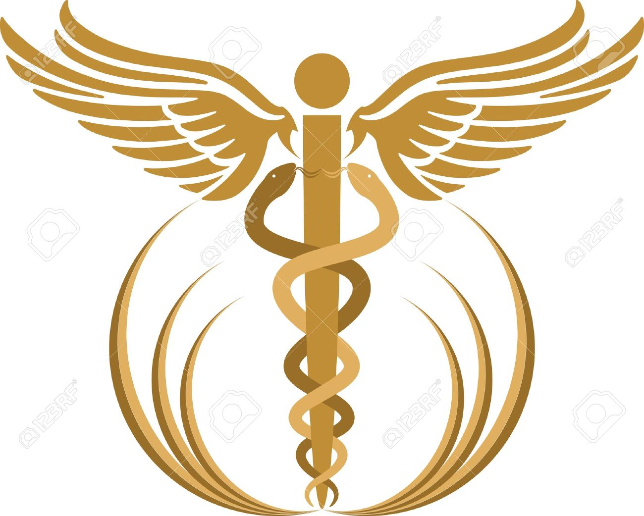 Illustration Art Of A Caduceus With Isolated Background Royalty Free