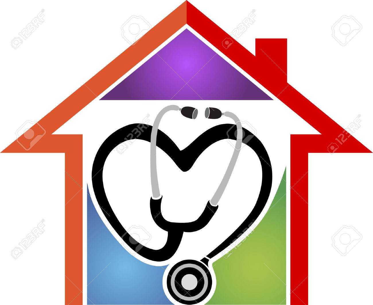 illustration art of a home health care with isolated background rh 123rf com home care nurse clipart free clipart home care