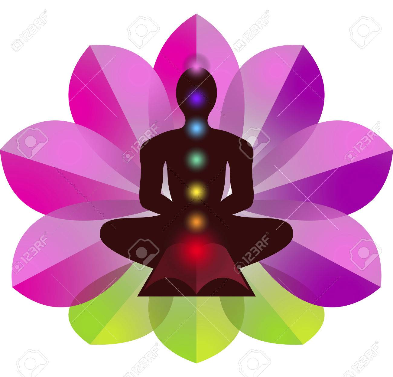 Illustration Art Of A Lotus Yoga With Isolated Background Stock Photo Picture And Royalty Free Image Image 31390359