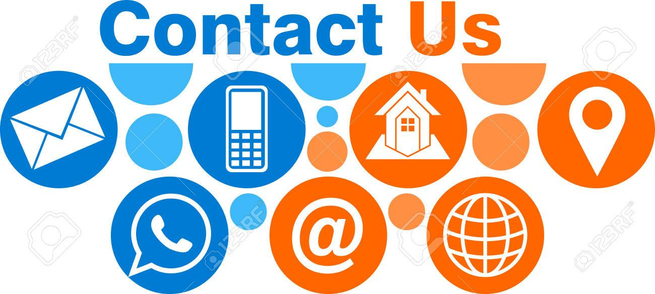 Illustration art of a contact us icon with isolated background - 84175693