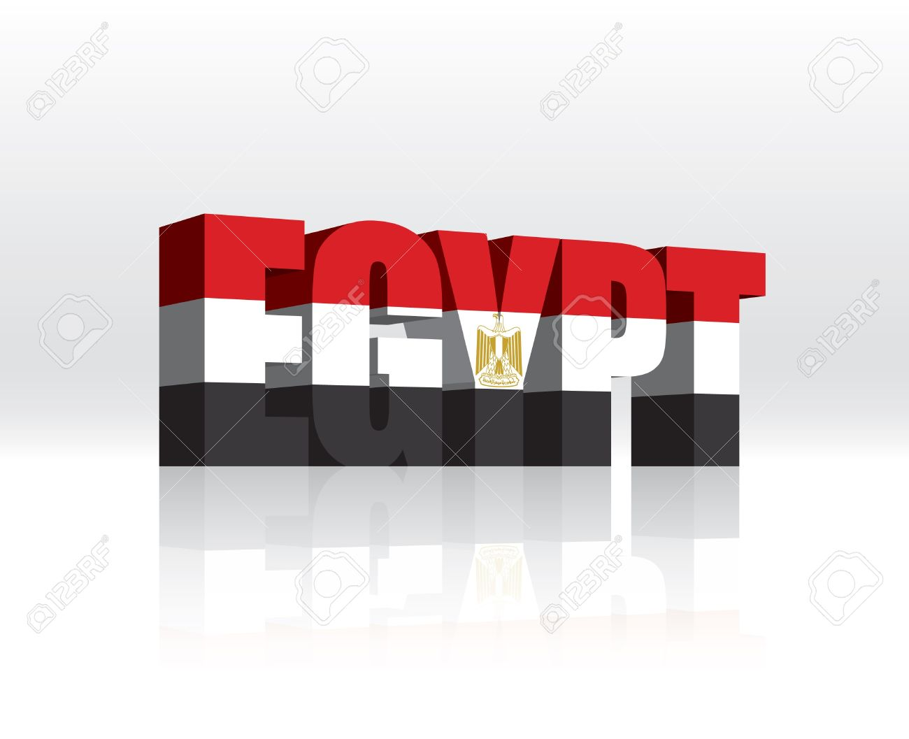 3d egypt word text flag royalty free cliparts vectors and stock
