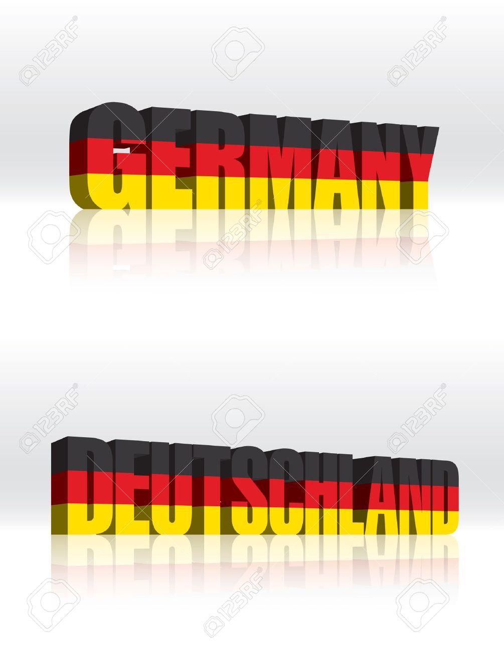3D Germany (Deutschland) Word Text Flag Stock Vector - 16173453