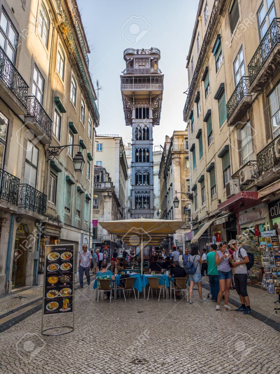 LISBON, PORTUGAL - JUNE 13, 2017: Santa Justa elevator in downtown