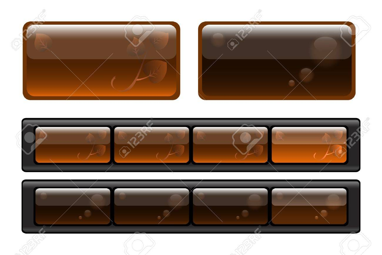 Set of semitransparent buttons Stock Vector - 9704508