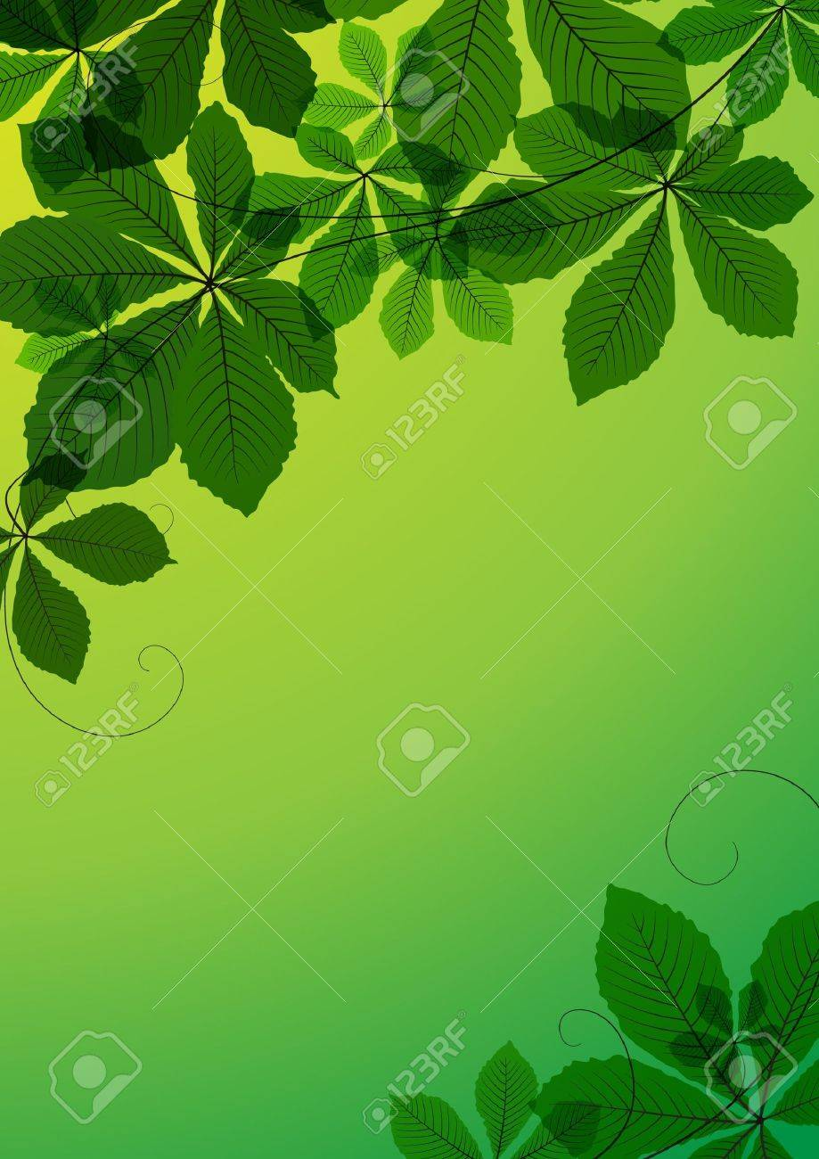 Abstract background with chestnut leaves Stock Vector - 9873691