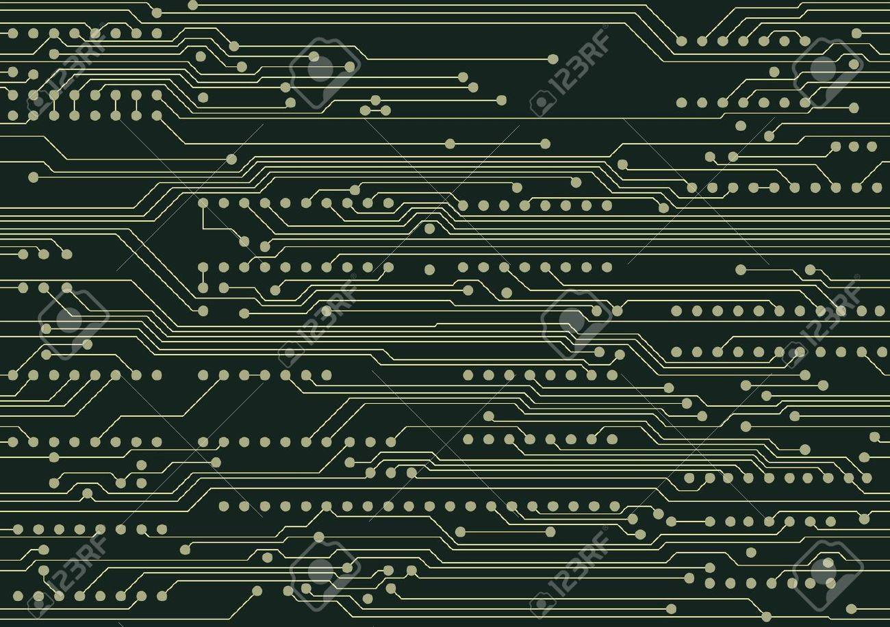 Seamless industrial background with circuit board Stock Vector - 10045418