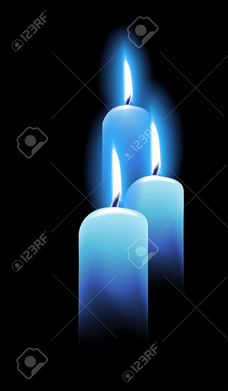 Burning candles on black Stock Vector - 11225887