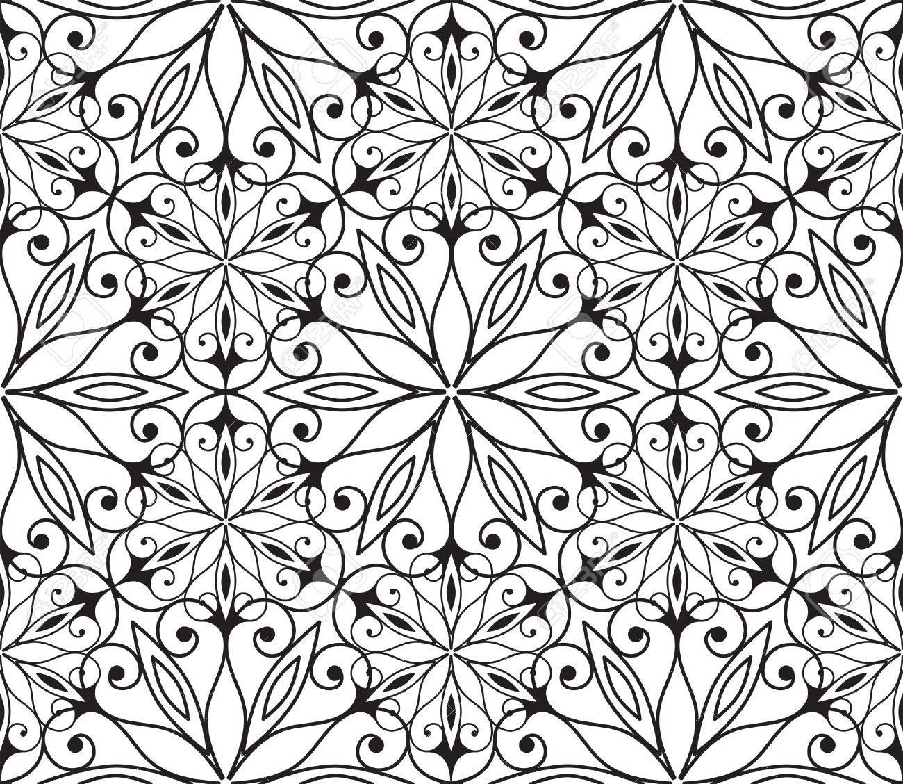 Seamless hexagonal pattern in arabian style Stock Vector - 11386734