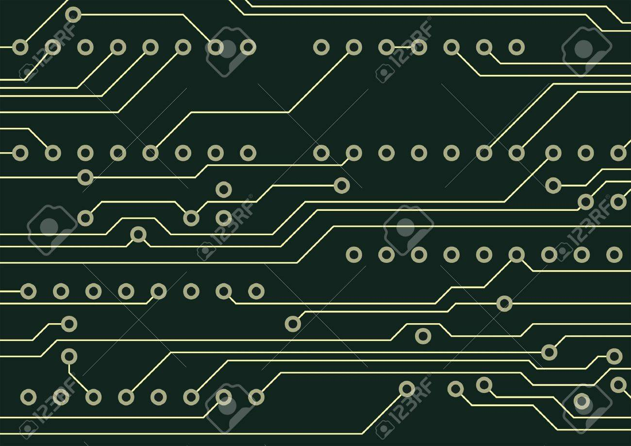 Circuit board technological hardware background Stock Vector - 13215036