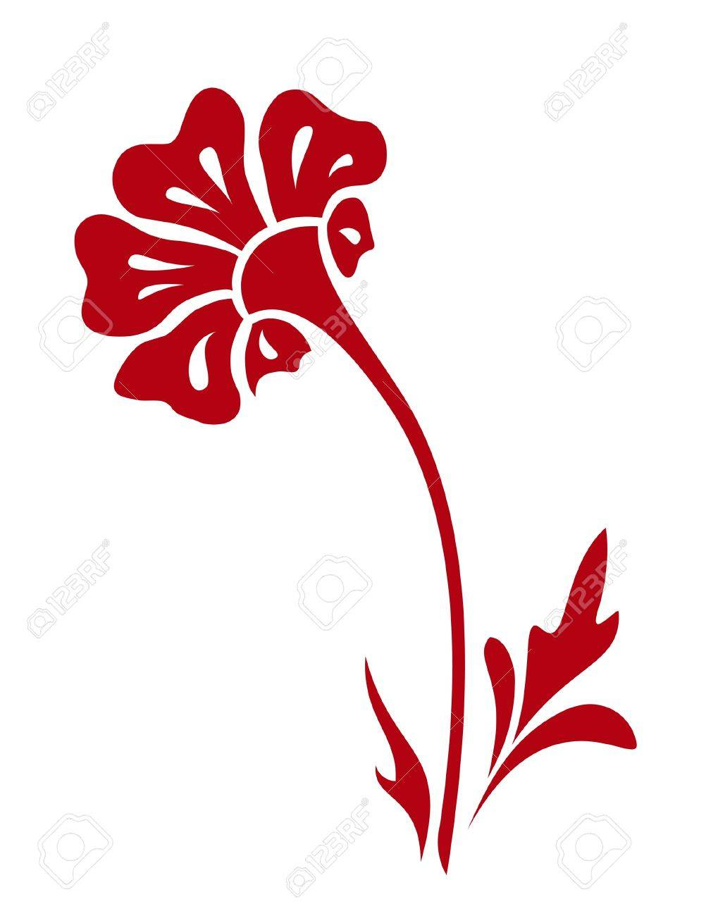 Abstract flower, hand-drawn element for design Stock Vector - 14581219