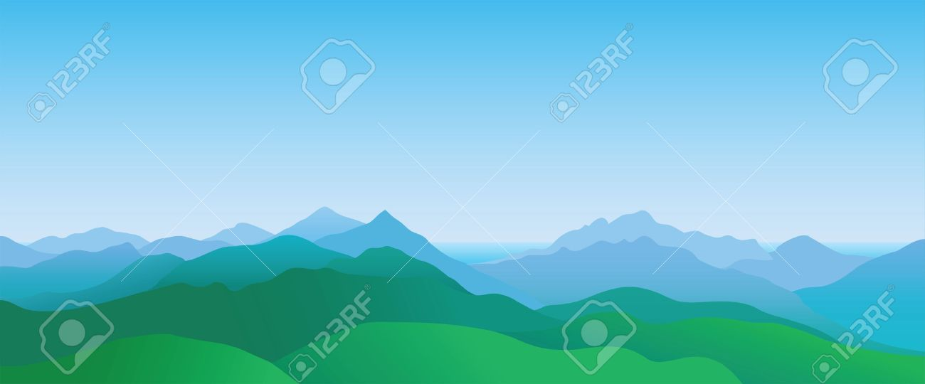 Mountain scenery, abstract summer landscape - 14581210