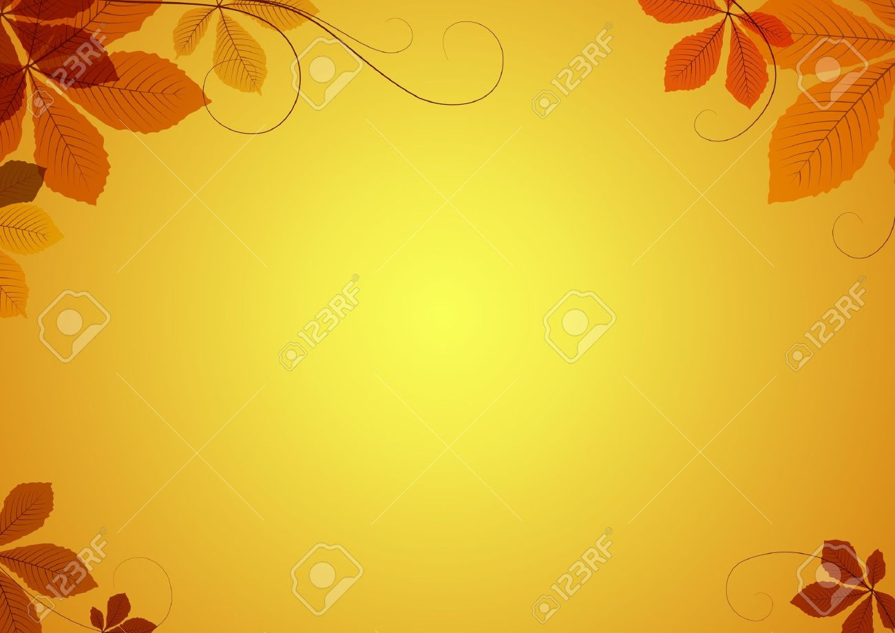 Abstract autumn background with chestnut leaves Stock Vector - 14581215