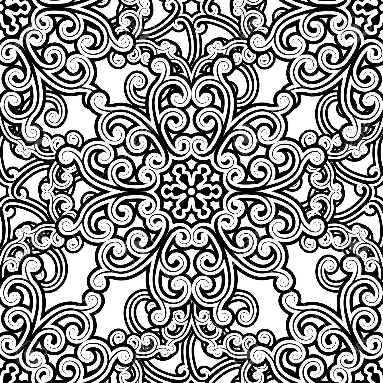 Vintage monochrome seamless pattern Stock Vector - 15164503