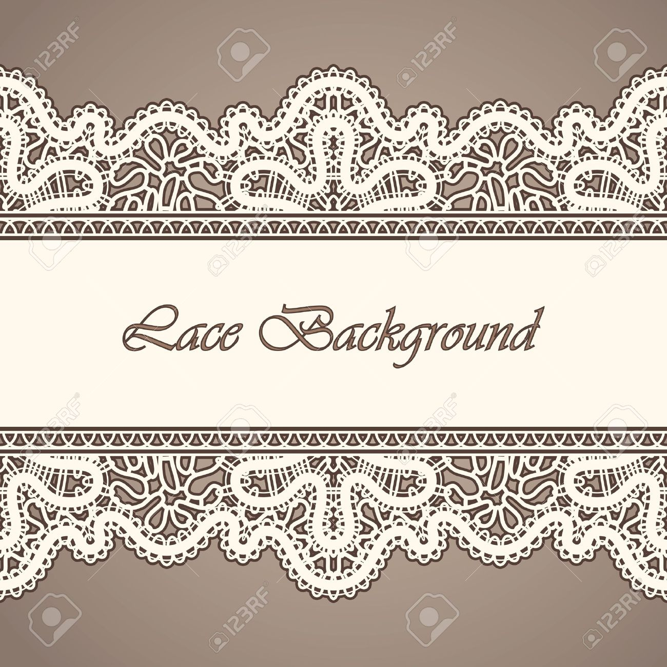 Old lace, horizontal seamless vintage background Stock Vector - 15677130