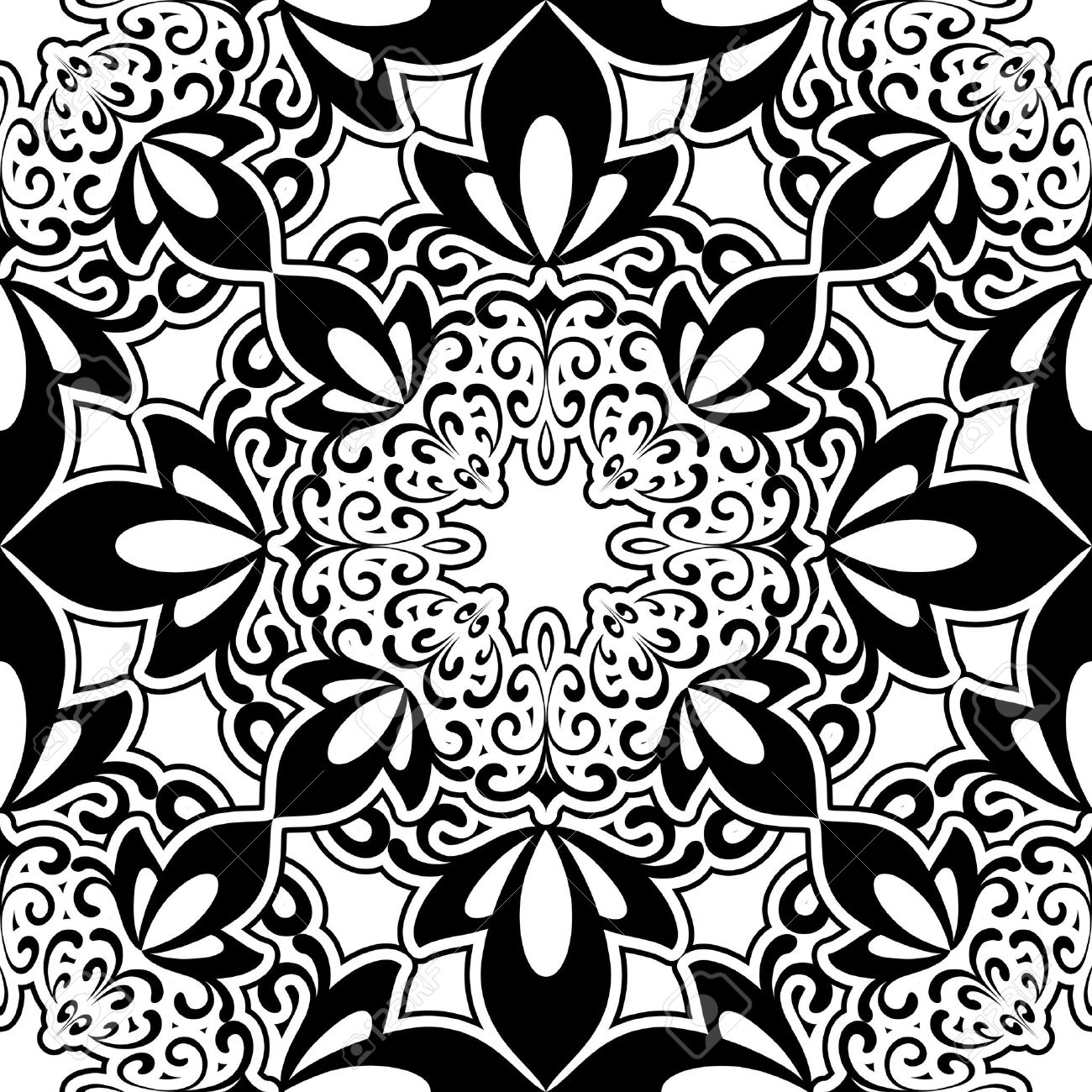 abstract black and white seamless pattern royalty free cliparts