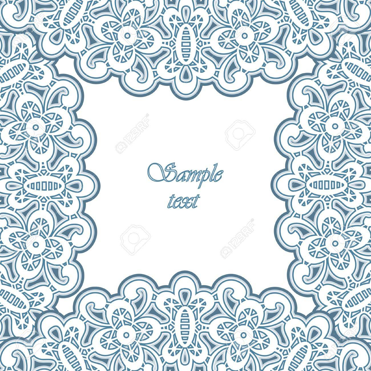 Lacy ornamental frame, decorative background Stock Vector - 16235806