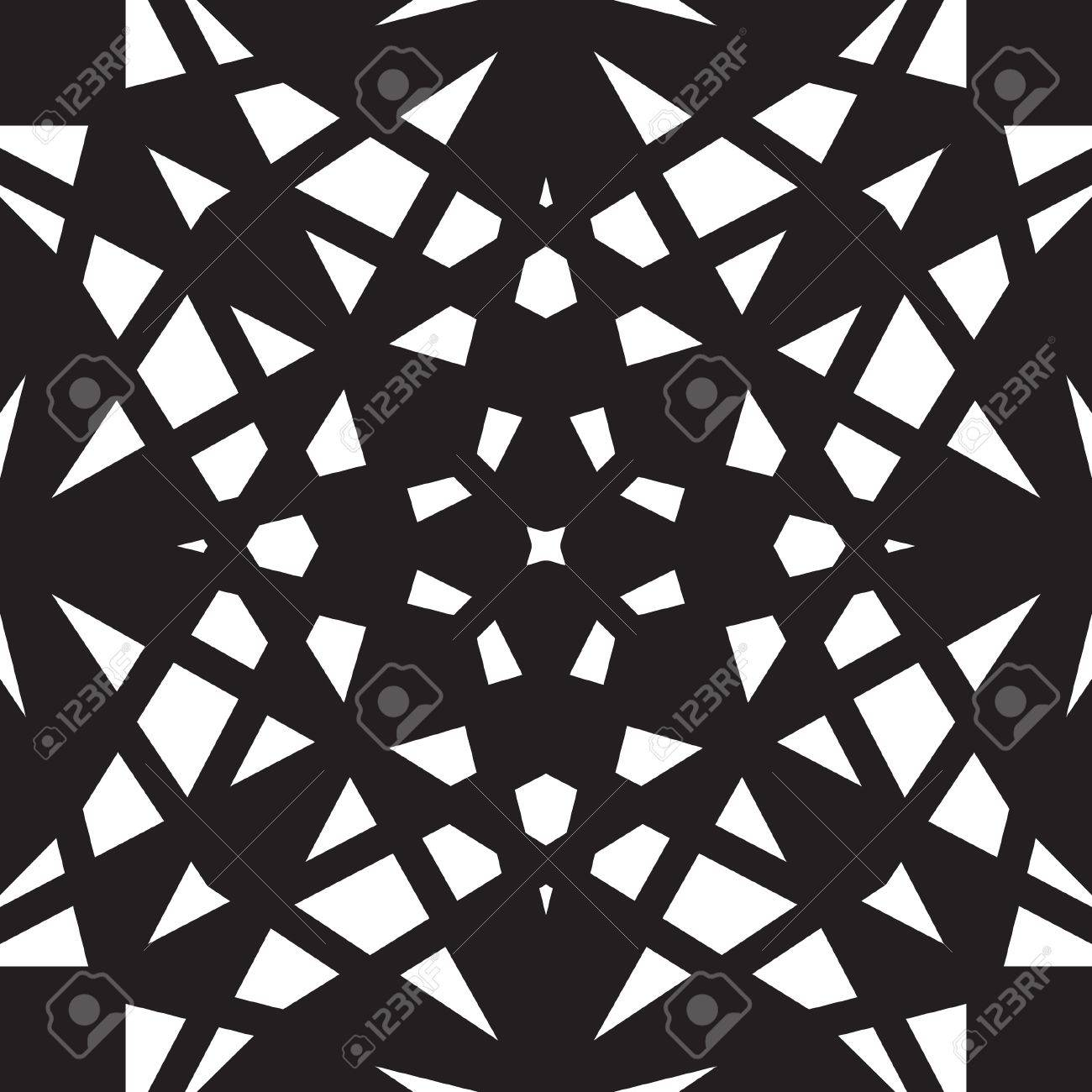 Black and white geometric seamless pattern Stock Vector - 18971025