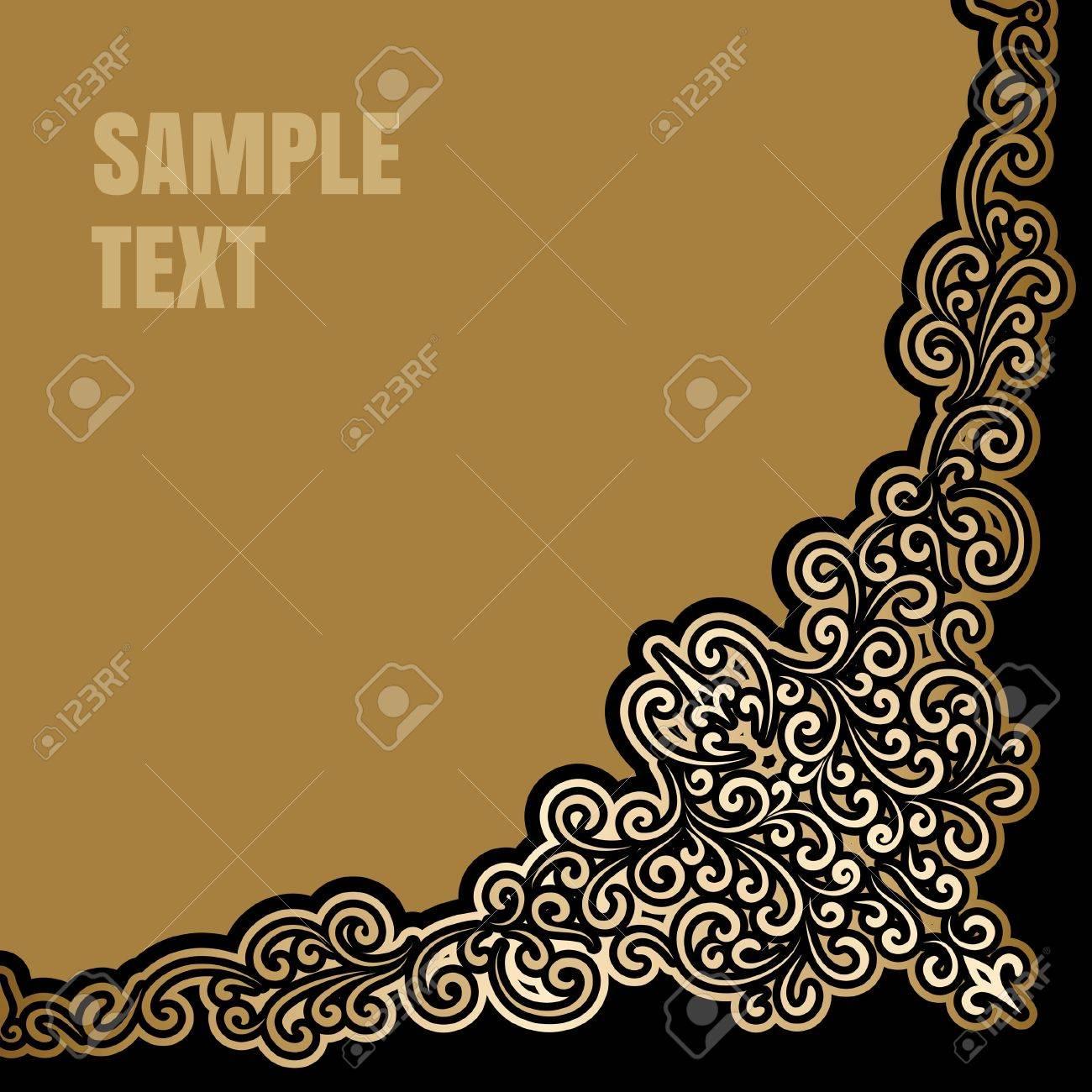 Vintage gold background, antique corner decoration Stock Vector - 20229949