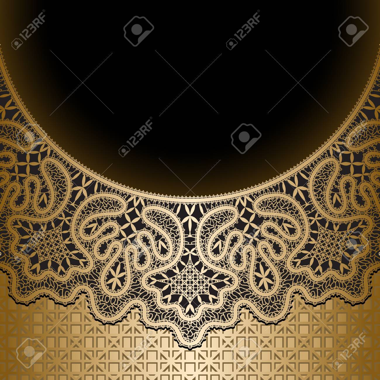 Vintage gold lace background Stock Vector - 22474136