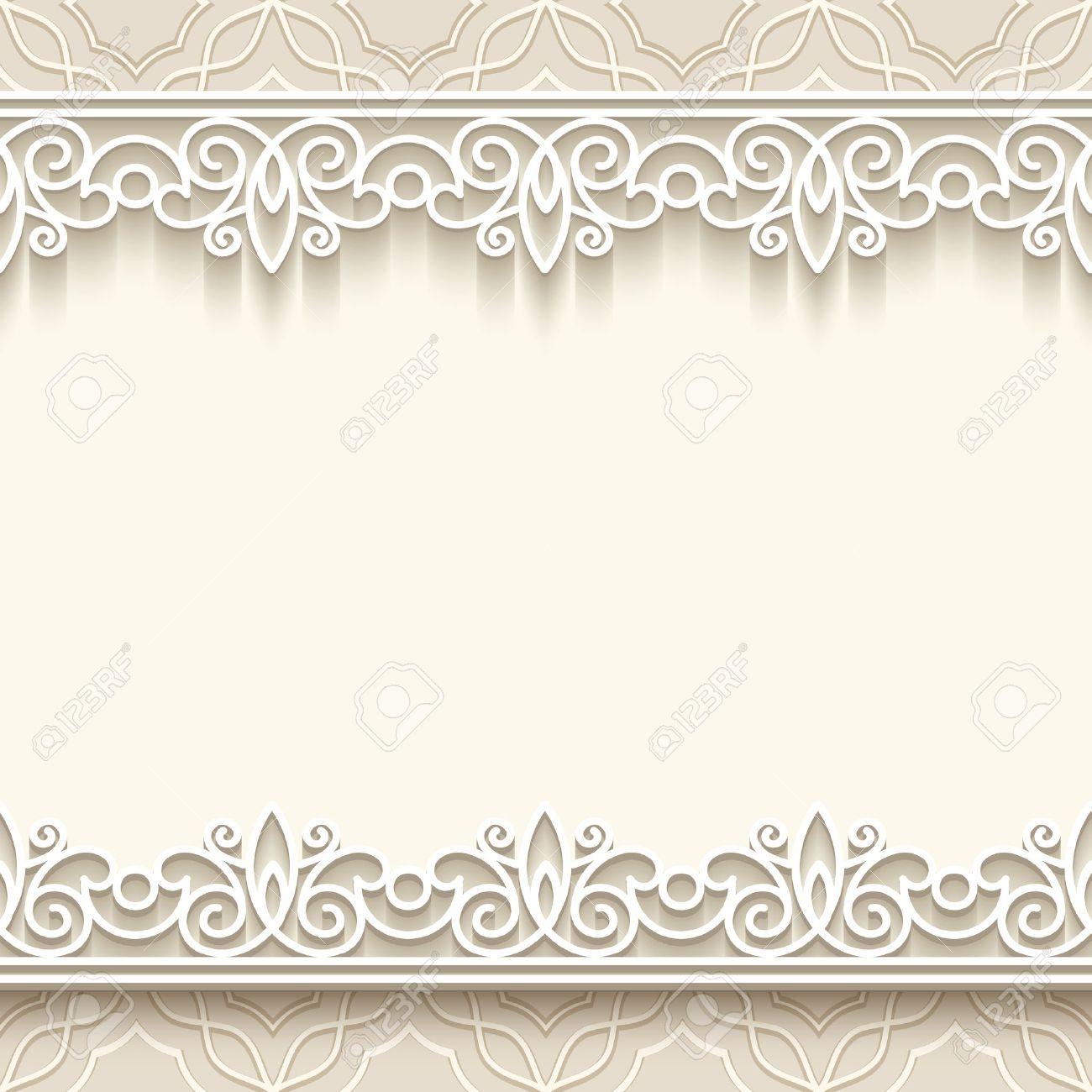 Pizzo Cornice Di Carta Con I Bordi Senza Soluzione Di Continuità Su