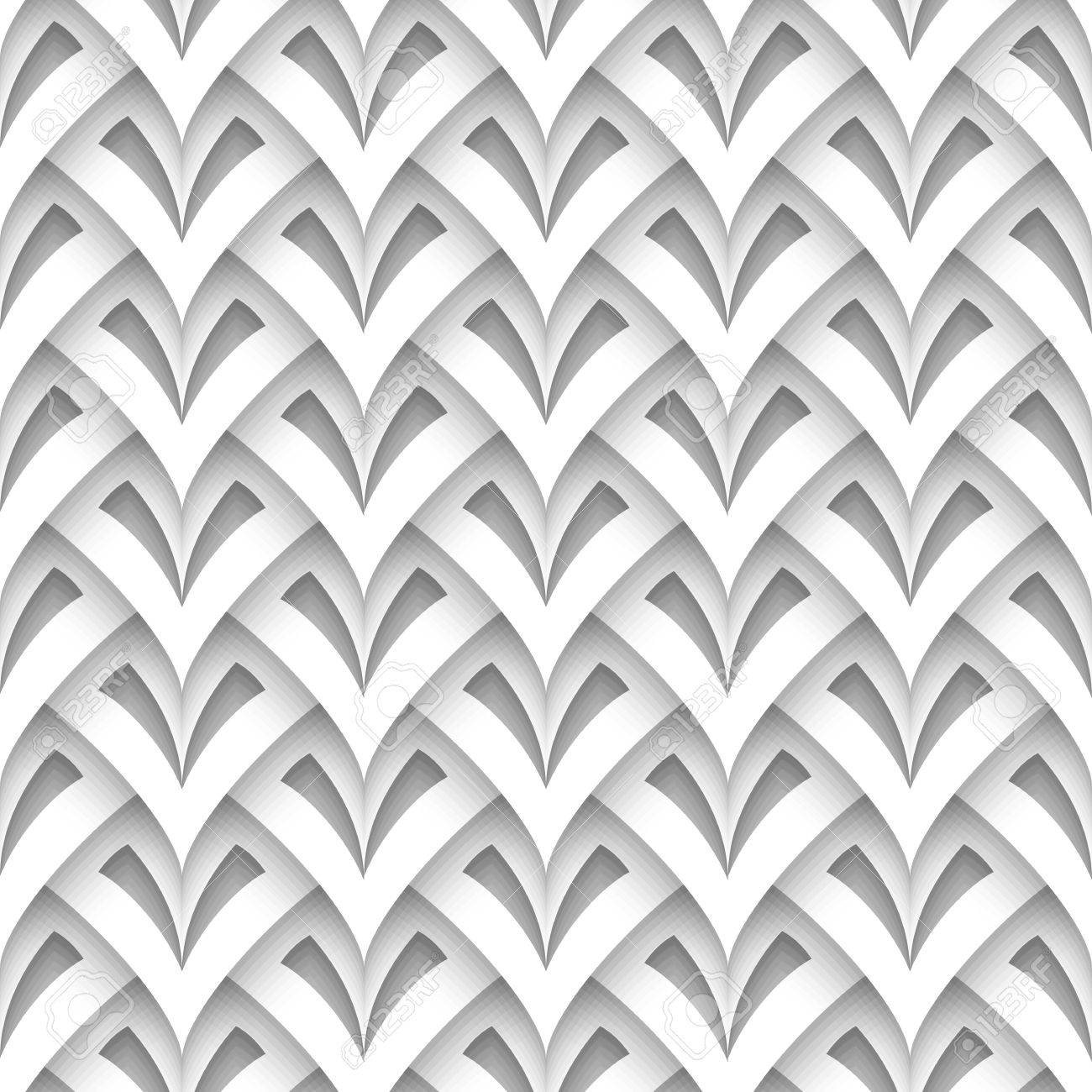 Cutout paper texture, abstract scaly geometric background, seamless pattern - 27453937