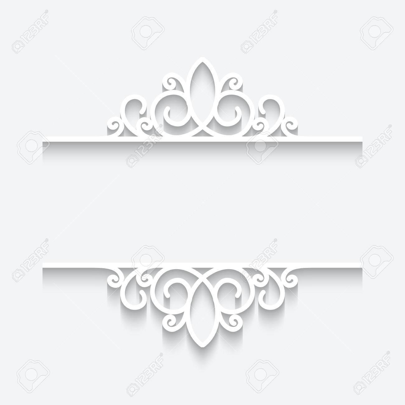 Divider on White Background on White Background