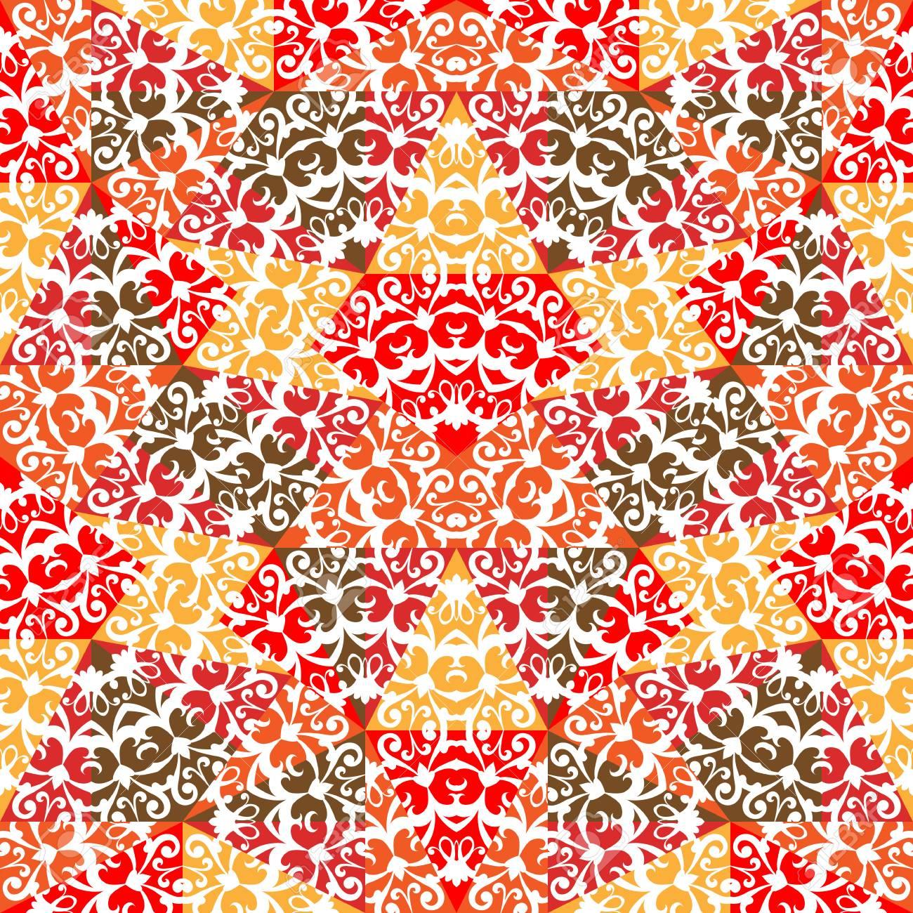 09455c1f1706bf Abstracte kleurrijke mozaïekachtergrond, geometrisch naadloos patroon  Stockfoto - 35587820
