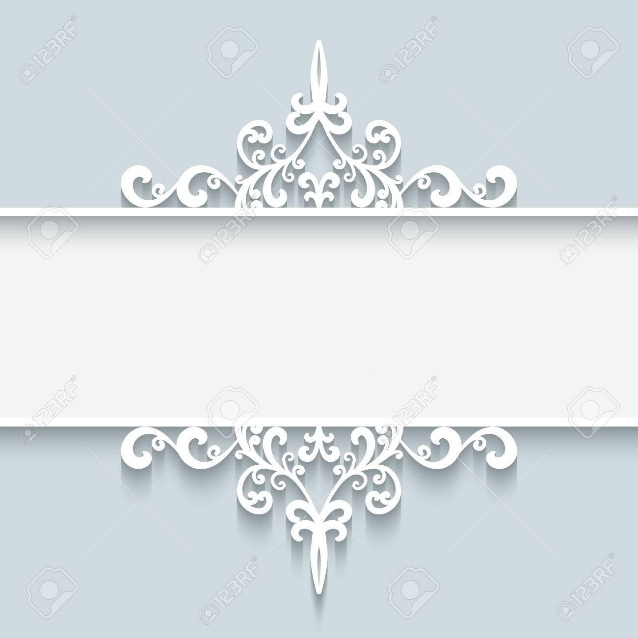 Abstract background with paper divider header ornamental frame - 40446273