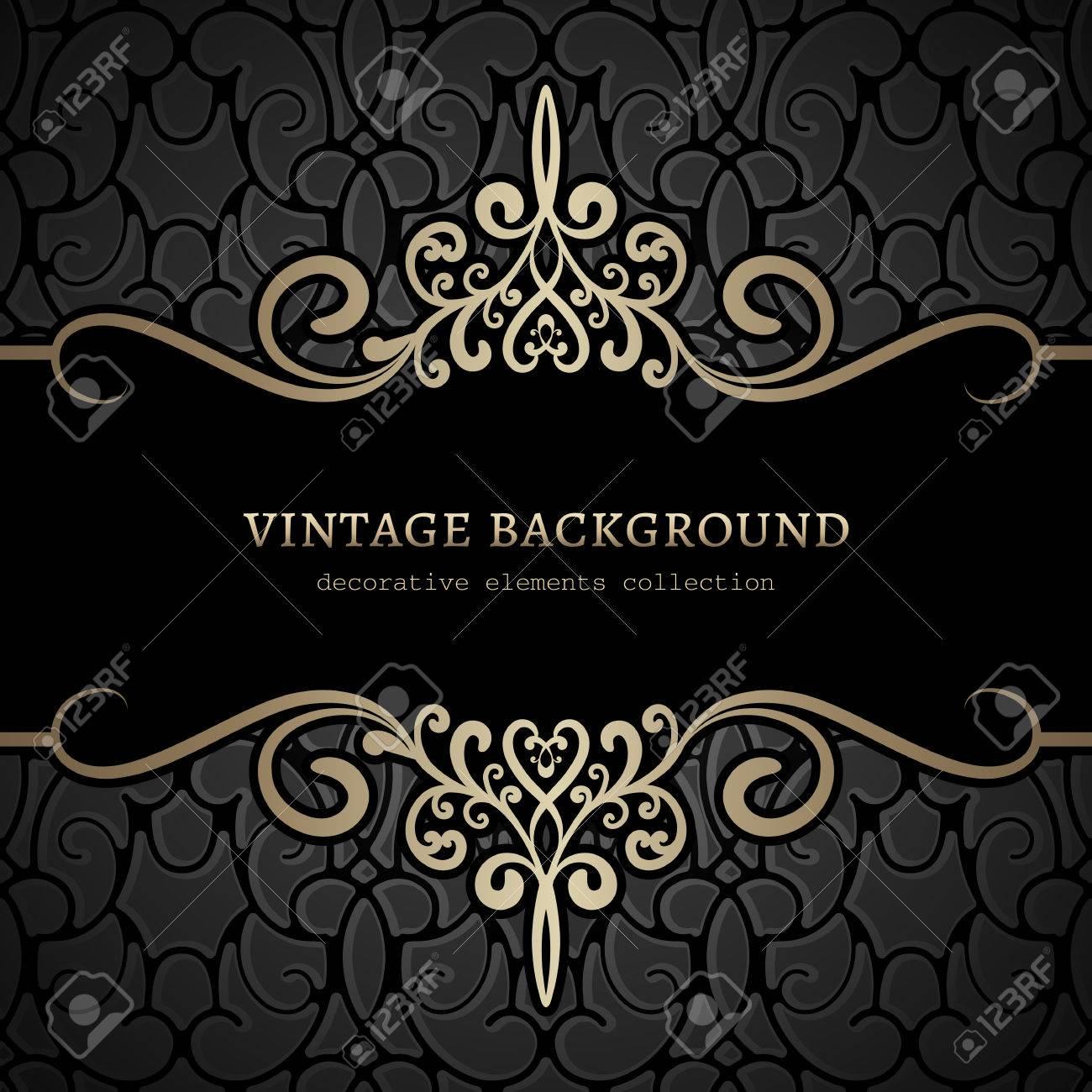 Vintage gold background, divider, header, ornamental frame - 42847578