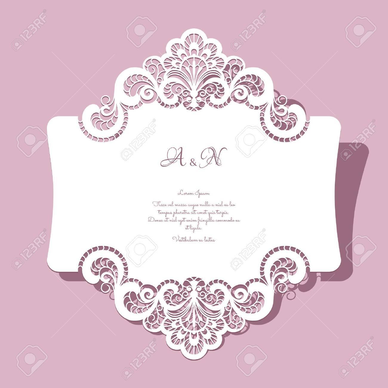 carte de voeux de mariage Dentelle élégante Carte De Voeux, Invitation De Mariage Ou D'un