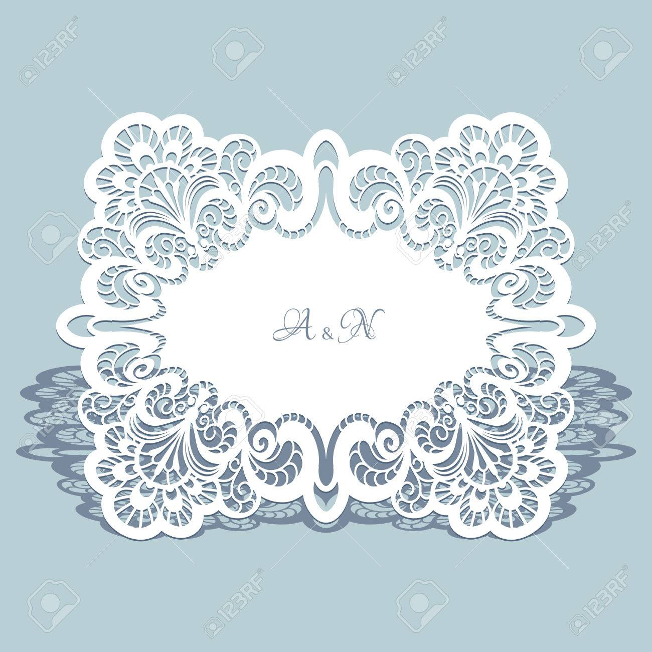 Cutout Paper Lace Frame Lacy Doily Greeting Card Or Wedding