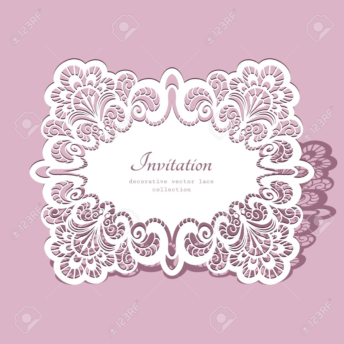 Ornate Lace Frame, Lacy Ornament, Greeting Card Or Wedding ...