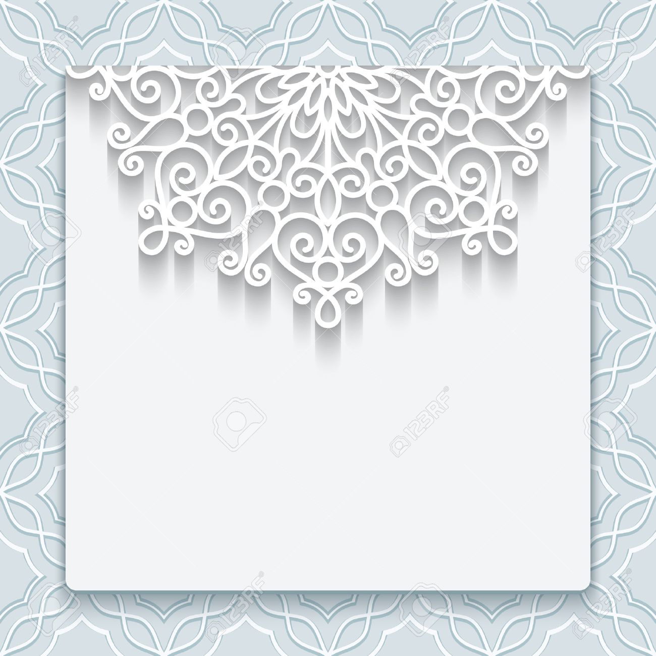 Elegant Save The Date Card With Lace Decoration, Vintage Wedding ...