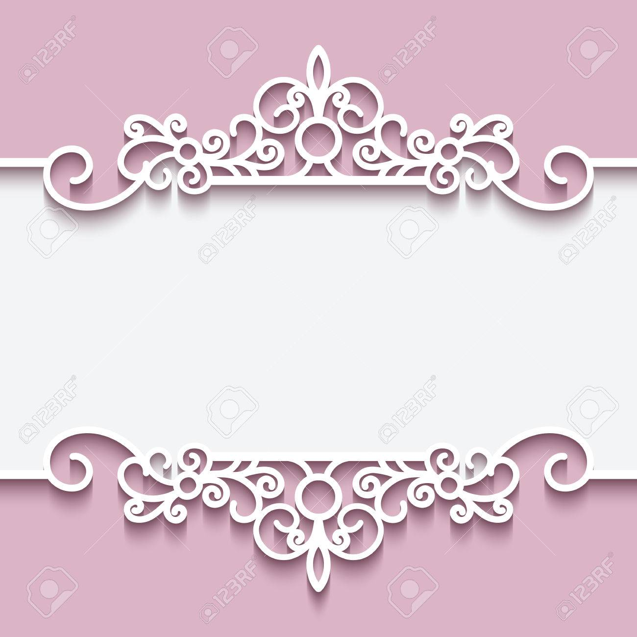Cutout paper lace frame greeting card or invitation template cutout paper lace frame greeting card or invitation template stock vector 46637721 stopboris Gallery