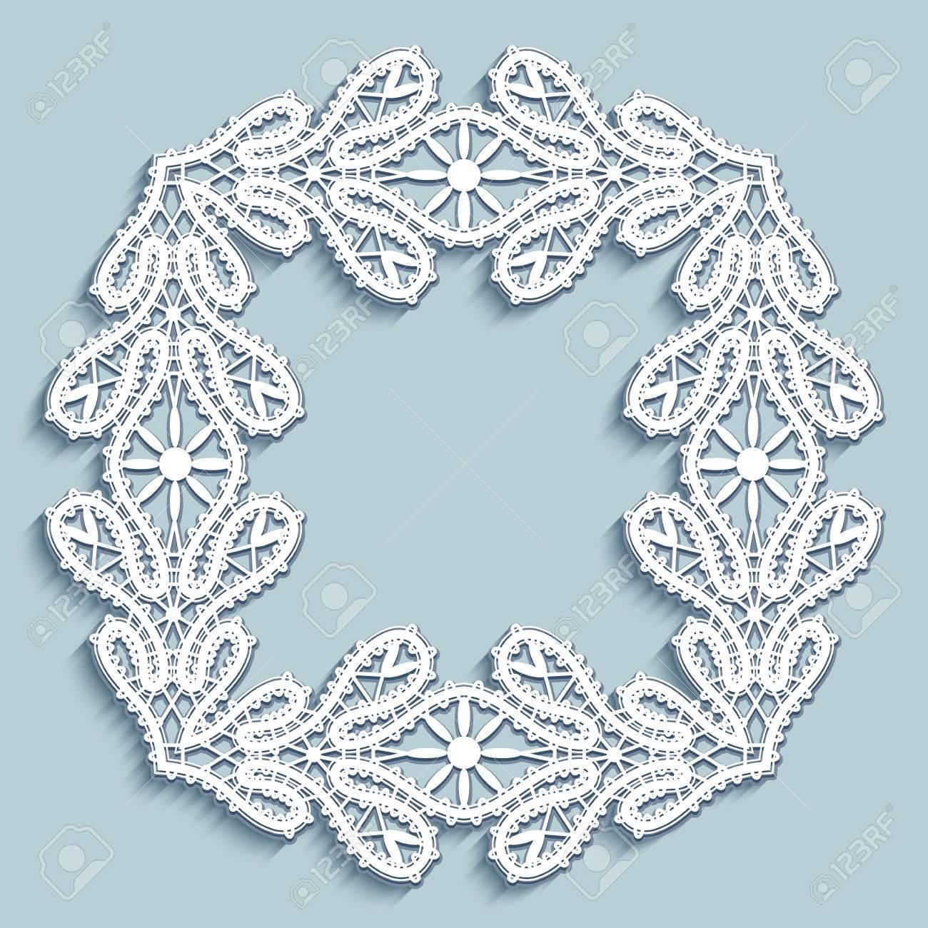 Platz Spitze Rahmen, Weiße Quadrat Spitze Ornament, Schiffchenspitze ...