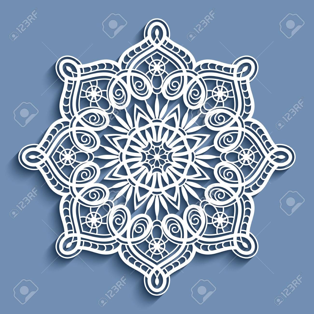 Pañito De Encaje De Papel, Copo De Nieve Decorativo, Mandala ...