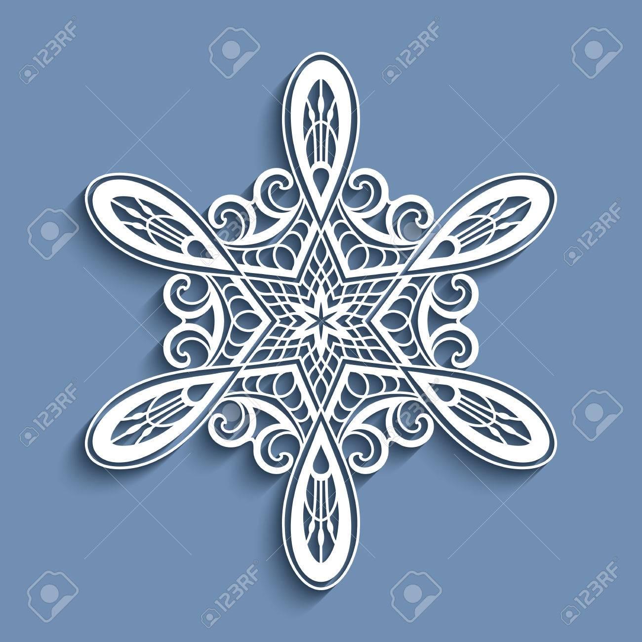 Christmas Cutout Patterns.Cutout Paper Lace Doily Decorative Snowflake Sticker Christmas