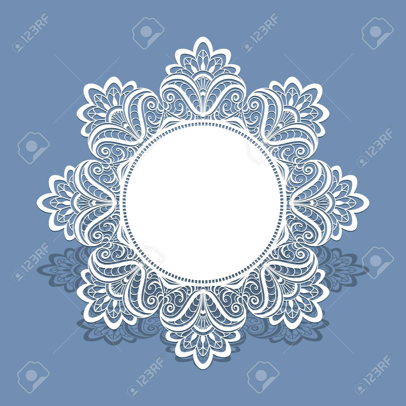 Paper Lace Doily Greeting Card Wedding Invitation Or Announcement