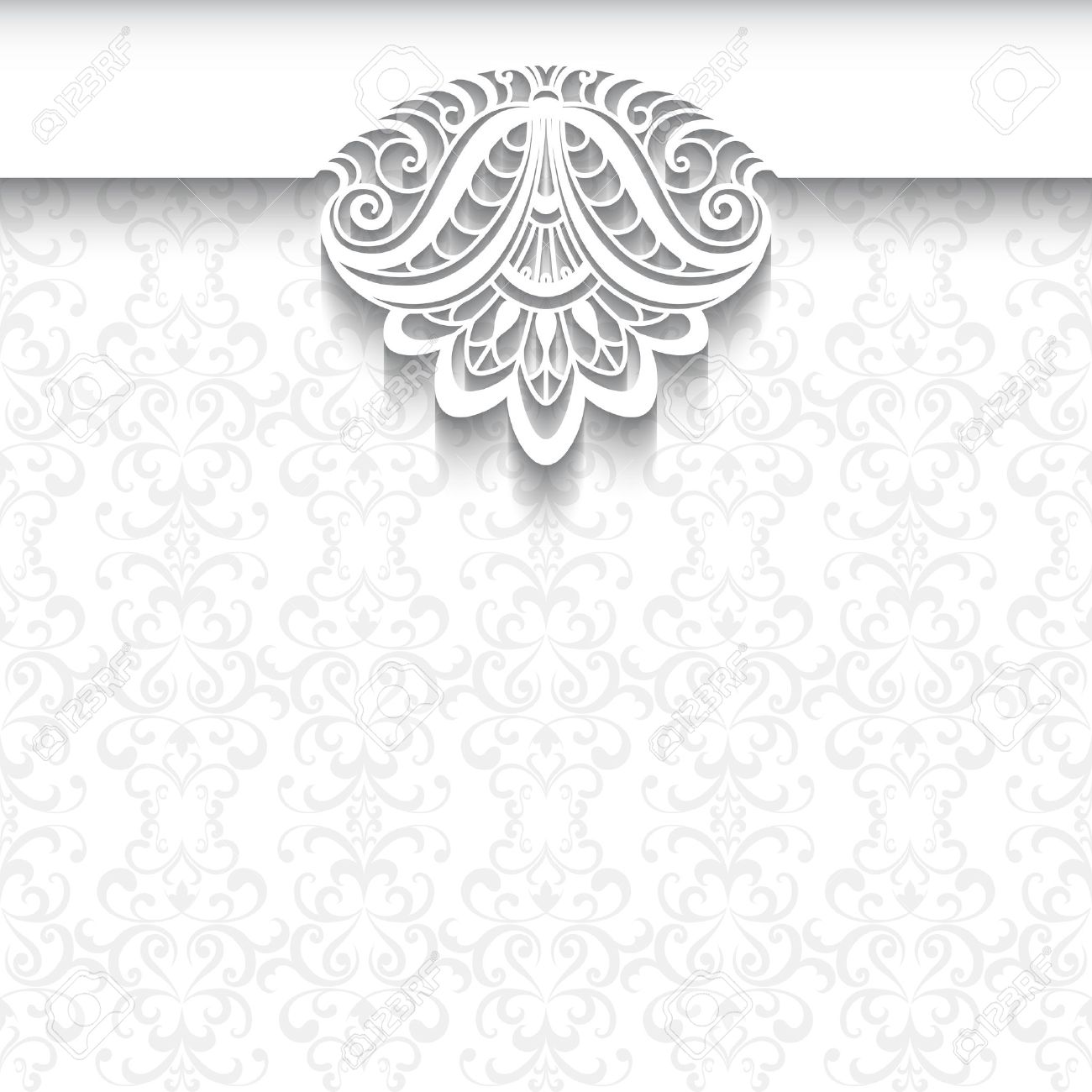 Decorative Background In Neutral Color, Elegant Greeting Card ...