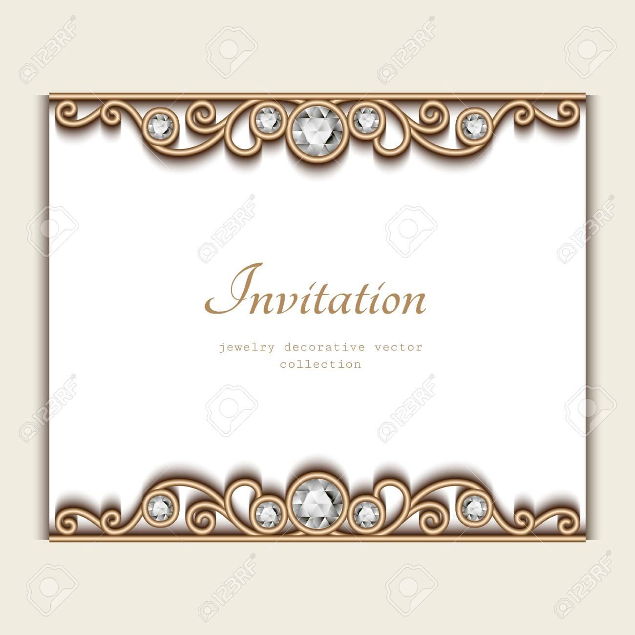Vintage card with jewelry diamond decoration elegant wedding vector vintage card with jewelry diamond decoration elegant wedding invitation or announcement template junglespirit Images