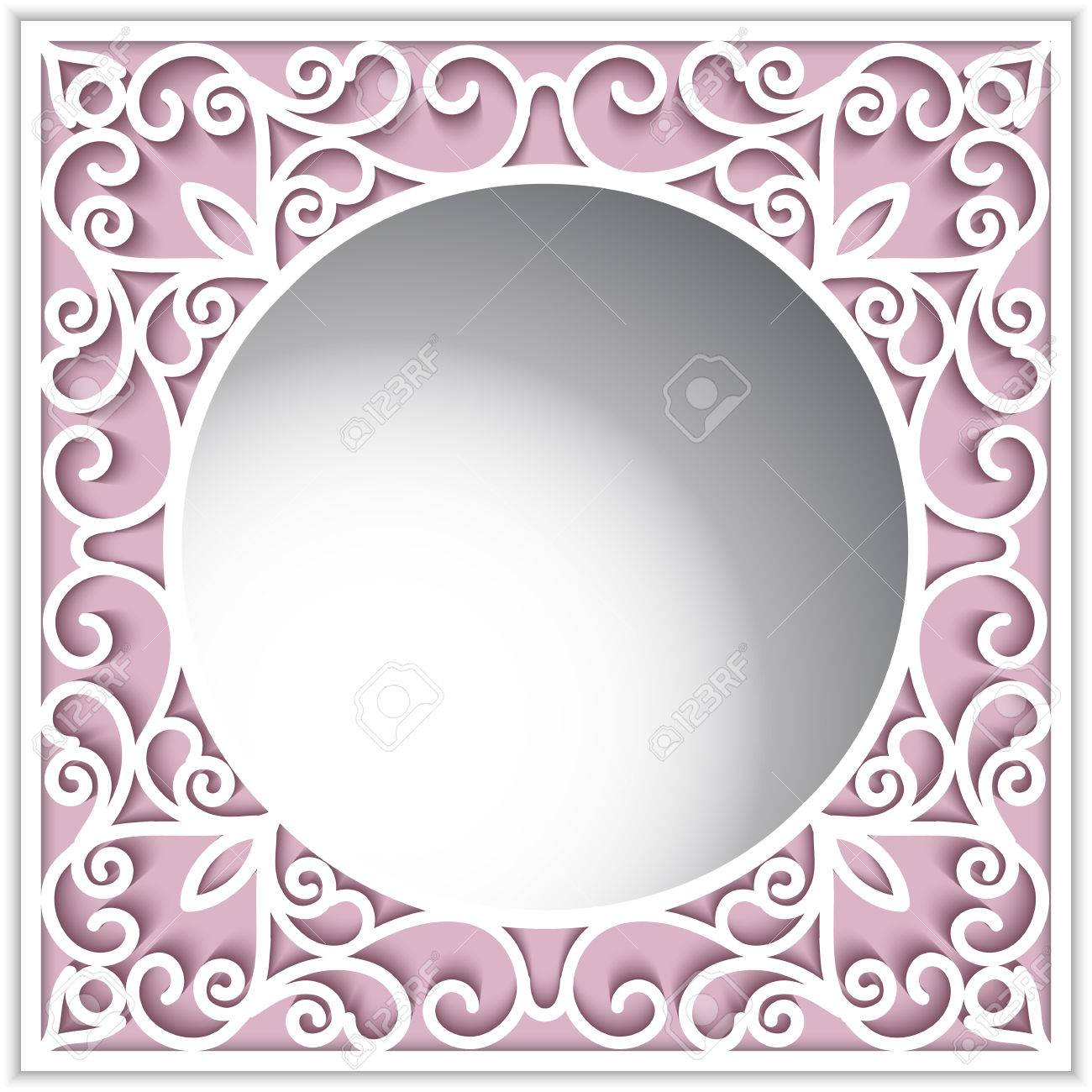 ornamental paper frame with round hole decorative paper lace background stock vector 52369616 - Decorative Paper